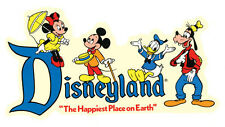Disneyland   1960's Vintage-Looking Sticker/Travel Decal Luggage Label Happiest