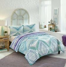 Boho Boutique Dreamland Queen 3pc Duvet Cover & Shams ~ Purple Green Blue