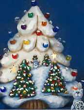 Ceramic Bisque Ready to Paint Christmas Tree lights clipin light incl.