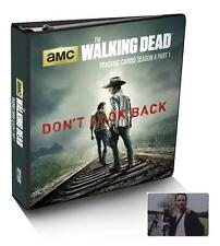 2016 The Walking Dead Season 4 Part 1 Sealed Trading Card Binder with Rick Metal