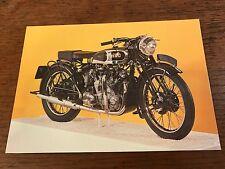 1937 1000cc Vincent-HRD Series A Rapide National Motorcycle Museum Postcard (C)
