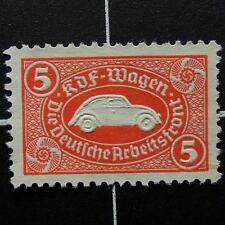 Xrare red 5rm-Germany KDF WAGEN/VOLKSWAGEN revenue-no gum-swastika,German stamp