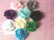 18 Shabby Chiffon flower  ,  all  craft 2 each of 9 colours FREE POST