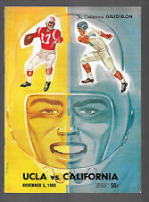vintage 1960 UCLA Bruins at California Bears football program Billy Kilmer