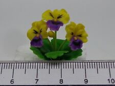 1:12 Scale Pansy Flowers Doll House Miniatures Flowers, Garden