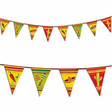 6m Wild West Mexican Fiesta Summer Party Pennant Flag Banner Bunting Decoration
