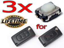 3x SWITCH BUTTON CITROEN C2 C3 C4 C5 JUMPER BERLINGO PICASSO REPAIR REMOTE KEY