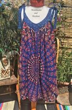 FAB NEW MANDALA TUNIC TOP DRESS SIZE 18 20 22 24 BOHO HIPPIE PURPLE SKIRT PLUS