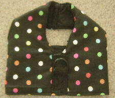 DOTS on BLACK DOG HARNESS VEST ITALIAN GREYHOUND DACHSHUND CHINESE CRESTED
