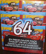 Disney Cars 64 Piece Favor Pack ~ 8 boxes filled w/ 8 Gift Birthday Party Favors
