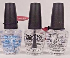 New! OPI 3pc MINI Nail Polish Set ~CHIP SKIP~ TOP COAT~ RAPIDRY Top Coat~ Gifts!