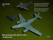 Messerschmitt Me 262 D-1/R-1 mit FuG240  1/72 Bird Models Umbausatz / conversion