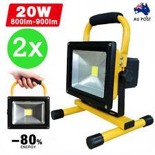 2x 20W Portable Flood Spot Work Light Caravan LED Rechargeable Camping Lamp AU