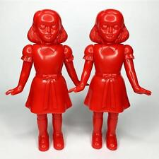 AWESOME TOY TWINS BLOOD RED LIMITED EDITION PAIR SET BY ARTIST ZACH TAYLOR