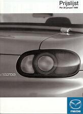 Mazda - Xedos 9 - MX-5 - 626 - 323 -  01/1999  - Prijslijst -  nl-Versandhandel