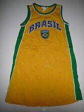 H & M tolles Kleid Gr. 116 gelb-grün mit Brasil Druck !!
