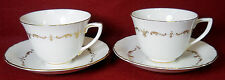 ROYAL WORCESTER china GOLD CHANTILLY pattern CUP & SAUCER Set