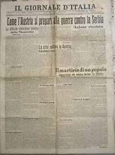 IL GIORNALE D'ITALIA 12 DICEMBRE 1912 COME L'AUSTRIA SI PREPARA ALLA GUERRA 713