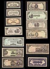 Philippines Japanese Occupation - Paper Money COMPLETE 1c-1000pesos (13)
