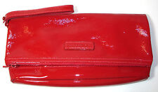 NWOT Longchamp Red Patent Leather Fold-Over Clutch Handbag MSRP:  $350