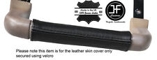 BLACK STITCH DASH GRAB HANDLE LEATHER COVER FITS LAND ROVER DISCOVERY 1 89-93