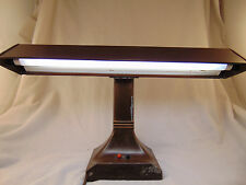 Vtg office Lite Master Fluorescent Table Lamp Art Specialty Co brown metal light