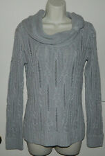 New Women White House Black Market Long Sleeve Gray Silver Cowl Neck Sweaters S