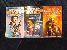 3 STAR WARS - THE CORELLIAN TRILOGY by ROGER MACBRIDE ALLEN P/B*£3.25 UK POST*