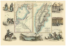 Asia Russia Aral Sea Kamchatka Peninsula illustrated map Fullarton ca.1872