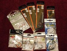 Lot of 10 pkgs Assorted Fishing Accessories hooks snelled rig weighted outdoor