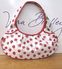 VERA BRADLEY TIED TOGETHER LAMINATED HOBO MAKE ME BLUSH  FRILL LINE NWT