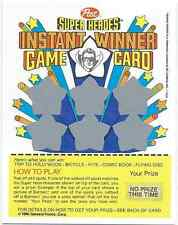 1980 POST CEREAL SUPER HEROES INSTANT WINNER GAME CARD ROBIN NO PRIZE NM