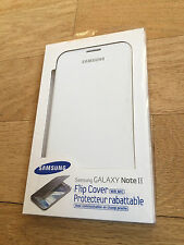 OEM New Folio White Flip Battery Door Case Cover For Samsung Galaxy Note 2 II