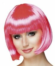 1920s Hot Pink Cabaret Bob Wig Showgirl Burlesque Flapper Gatsby Womens Ladies