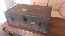 Antique Steamer Trunk Beautiful!!