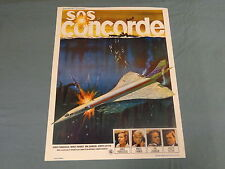ORIGINAL MOVIE POSTER / AFFICHE - SOS CONCORDE ( JAMES FRANCISCUS...)
