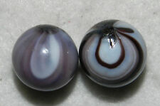 #4582m Vintage Pair of Rare Navarre Transitional Marbles .67 .69 In Mint