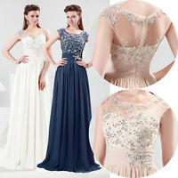 New Long Chiffon Ball Gown Cocktail Bridesmaid Wedding Party Evening Prom Dress