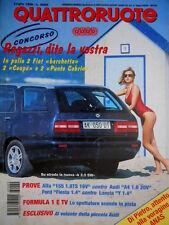 Quattroruote 489 1996 Alfa 155. Lancia Y 1.4 LX. Test per la piccola Audi [Q.59]