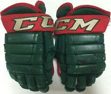 "CCM HG97 14"" Pro Stock Hockey Gloves Iowa Wild 2695"