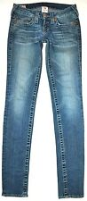 True Religion Stella Big T Slim Skinny Jeans 25 X 33 3/4 Long Stretch GORGEOUS