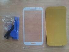 Cristal de Pantalla Blanca para Samsung Galaxy Note 2 + Adhesivo + Herramientas