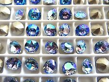 24 Light Sapphire AB Foiled Swarovski Crystal Chaton Stone 1088 29ss 6mm