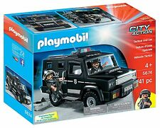 Playmobil City Action Tactical Unit Police Car SUV Interactive Playset NEW NIB