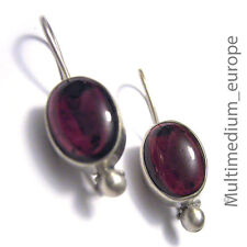 Silber Ohrringe Granat silver earrings garnet 925