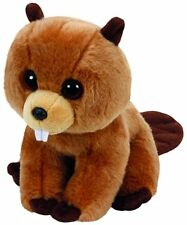 "Ty RICHIE The Beaver  Beanie Babies Stuffed Small  6"" Plush Toy (New)"