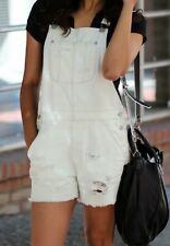 American Eagle Outfitters Overall Shorts white light bluish  Size X SMALL