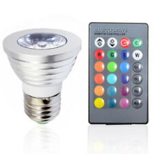 3W E27 16 Color LED RGB Bulb Lamp Magic Spot Light Wireless Remote Controller