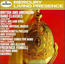British and American Band Classics (Jacob, Walton, Holst + ) Mercury Label NEW