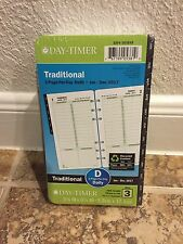 Traditional Black Tabs 2017 Planner Refill 1 Page Per Day Size 3 Day-Timer Daily